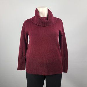 Rickis Burgundy Cowl Neck Sweater Size XL NWT